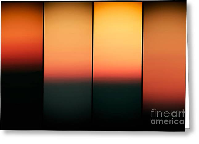 Sunset Posters Greeting Cards - Sunset Panels Greeting Card by John Rizzuto