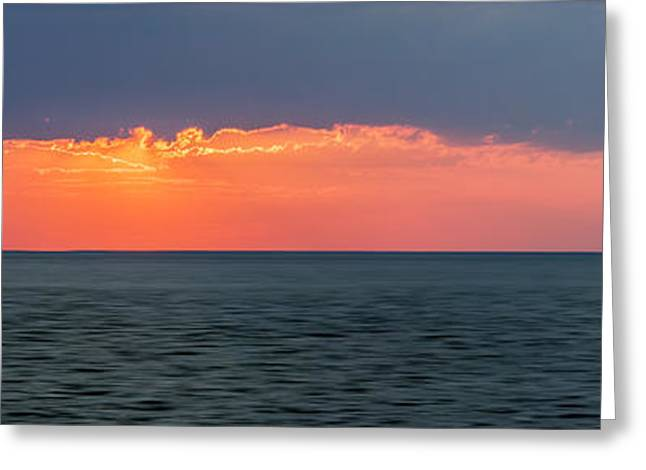 Foreboding Greeting Cards - Sunset panorama over ocean Greeting Card by Elena Elisseeva