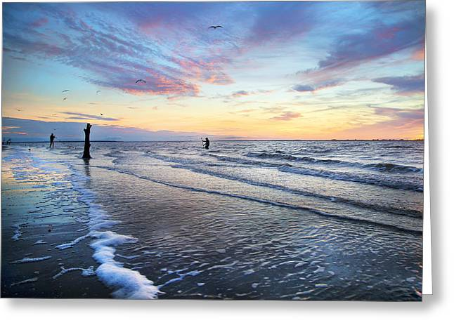Sunset Paradise Jekyll Island  Greeting Card by Betsy C Knapp