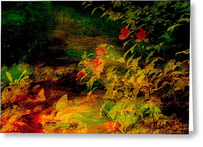 Recently Sold -  - Sunset Abstract Greeting Cards - Sunset Path Greeting Card by Joel Zimmerman