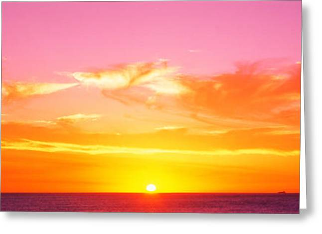 Spectacular Greeting Cards - Sunset Perth Australia Greeting Card by Panoramic Images