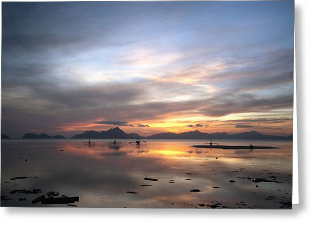 Ecologic Greeting Cards - Sunset Philippines Greeting Card by John Swartz