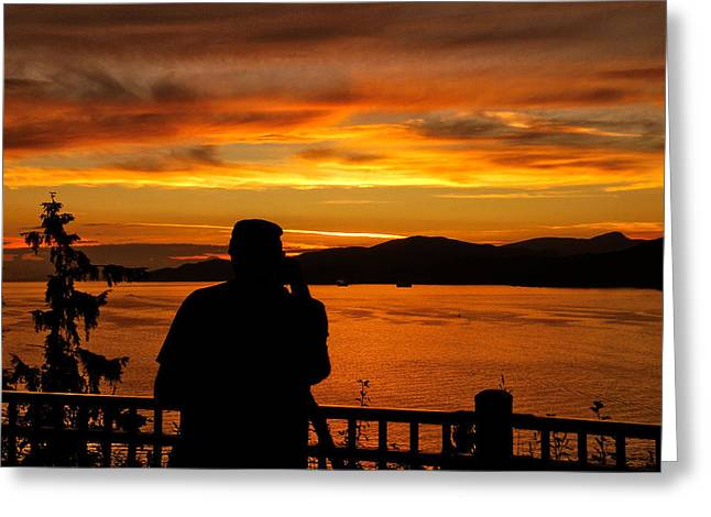 Prospects Greeting Cards - Sunset Photographer Greeting Card by Brian Chase