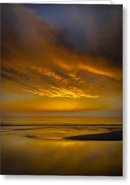 Thomas Pettengill Greeting Cards - Sunset Power Greeting Card by Thomas Pettengill