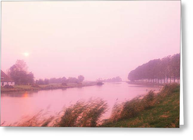 Sunset Pumerend Netherlands Greeting Card by Panoramic Images