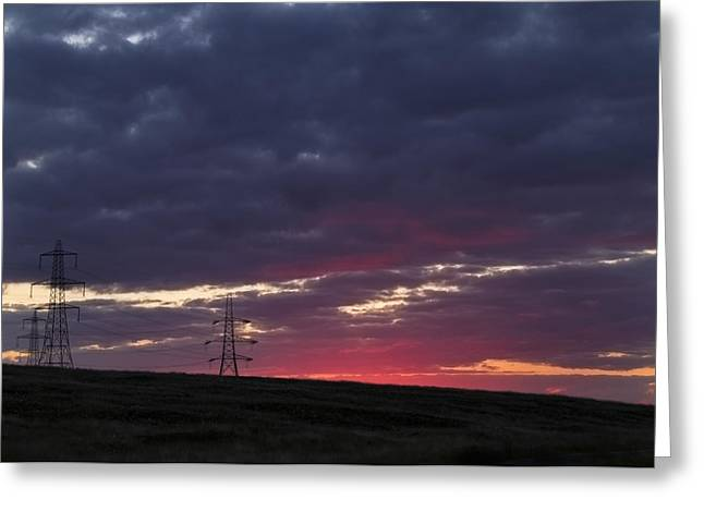 Sunset Pylon - 2 Greeting Card by Chris Smith