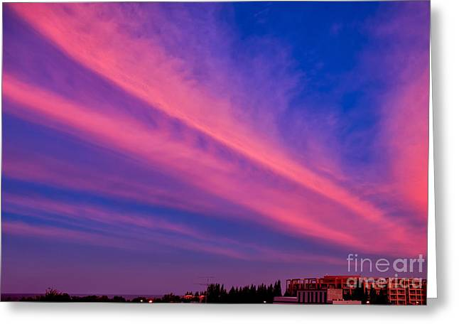 Sunset Rays Greeting Card by Adrian Evans