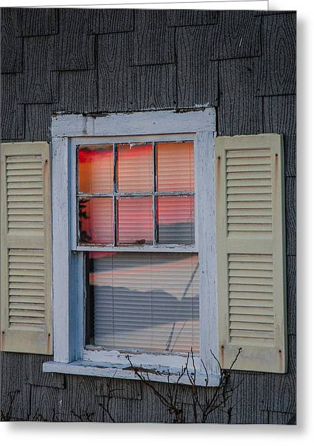 Outlook Greeting Cards - Sunset Reflection Greeting Card by Nancy Greindl