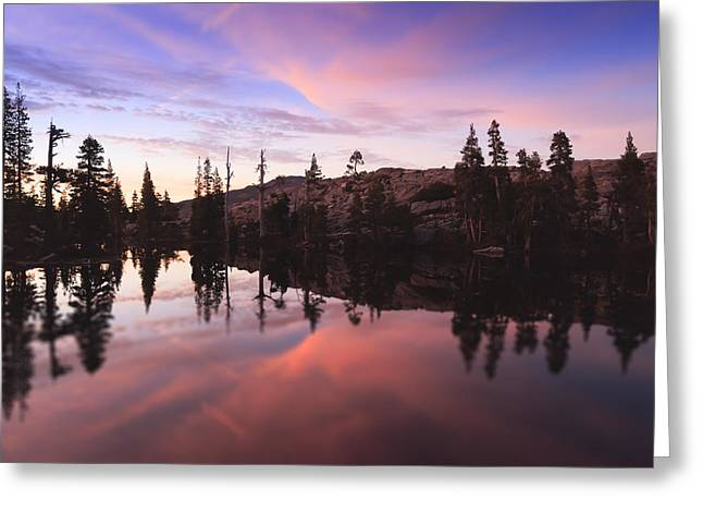 Tahoe National Forest Greeting Cards - Sunset Reflections Greeting Card by Karma Boyer