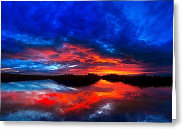 Sunset Reflections Greeting Card by Mark Andrew Thomas