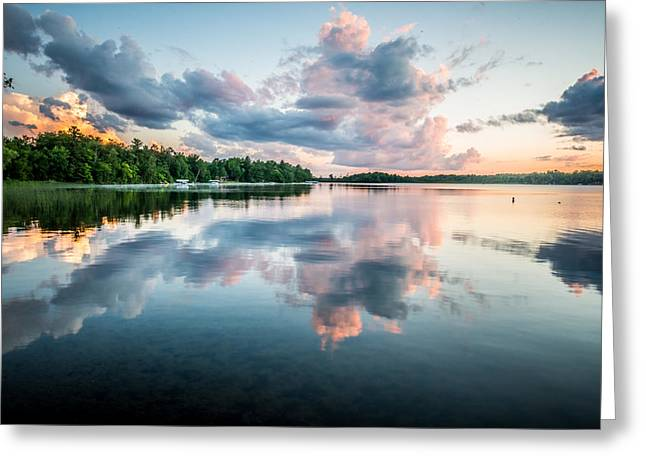 Peaceful Scene Greeting Cards - Sunset Relections Greeting Card by Paul Freidlund