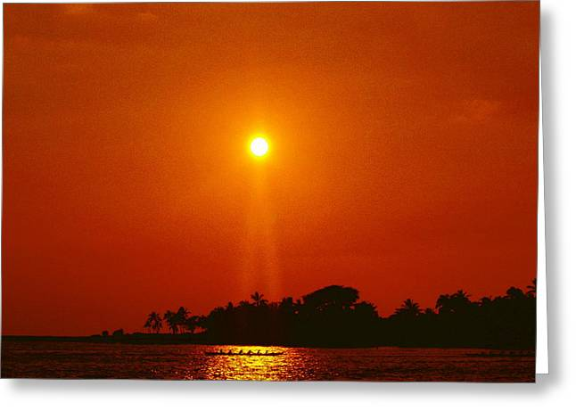 Seacapes Greeting Cards - Sunset Ride Greeting Card by Athala Carole Bruckner