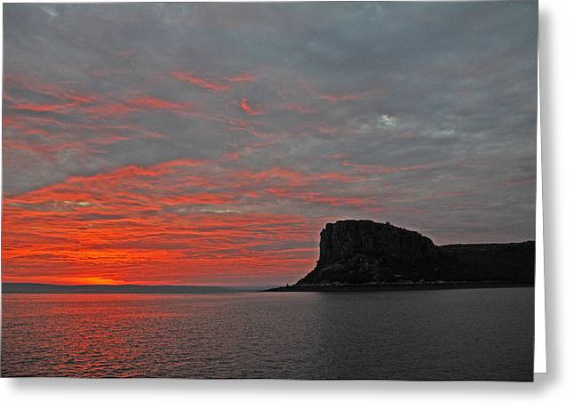 Get Well Card Framed Prints Greeting Cards - Sunset Rock Greeting Card by Casey Herbert