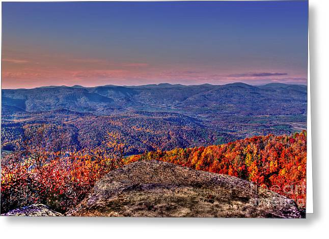 Jeff Mcjunkin Greeting Cards - Sunset Rock Saluda NC Greeting Card by Jeff McJunkin