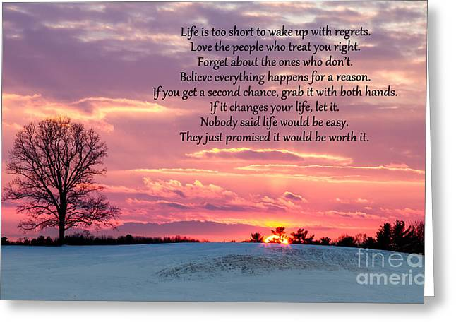 Sunset Rollinsford New Hampshire Greeting Card by Dawna  Moore Photography