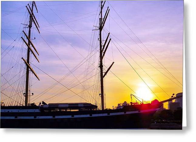 Phillies Framed Prints Greeting Cards - Sunset Sailing Greeting Card by Michelle Milano