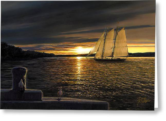 Gorgeous Sunset Greeting Cards - Sunset Sails Greeting Card by Doug Kreuger