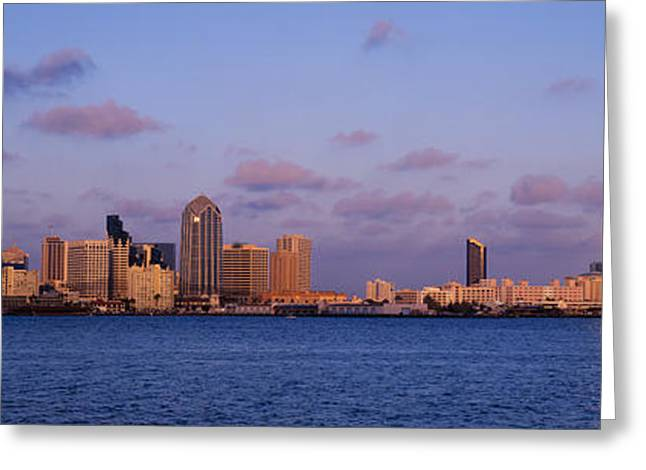 California Ocean Photography Greeting Cards - Sunset, San Diego, California, Usa Greeting Card by Panoramic Images