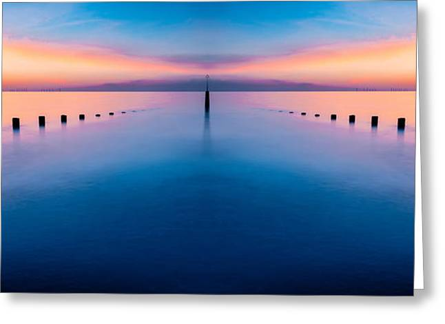 Submerged Greeting Cards - Sunset Seascape III Greeting Card by Adrian Evans