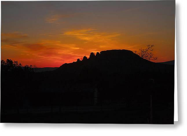Bronze Wire Greeting Cards - Sunset Sedona  Greeting Card by Gilbert Artiaga