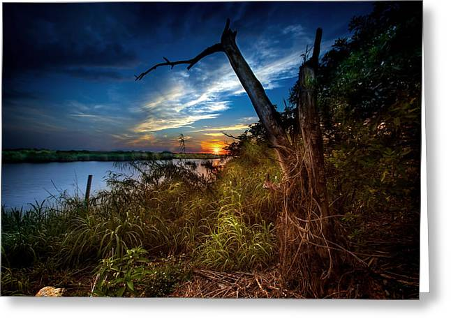 Sunset Serenity Greeting Card by Mark Andrew Thomas
