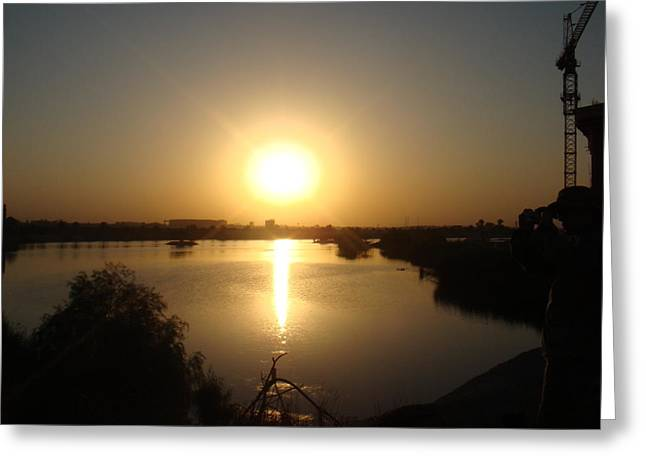 Baghdad Greeting Cards - Sunset Greeting Card by Sharla Fossen