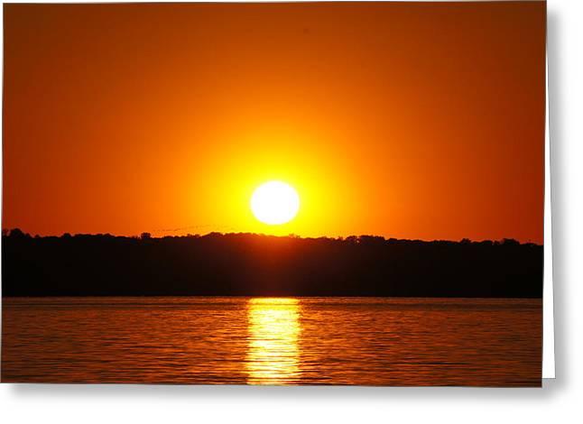 Hope Greeting Cards - Sunset Greeting Card by Sheela Ajith