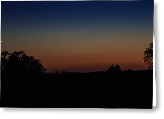 Mystical Landscape Greeting Cards - Sunset Silhouette Greeting Card by Paul Freidlund