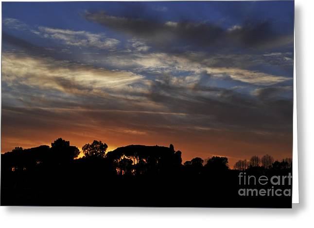 Italian Sunset Greeting Cards - Sunset Greeting Card by Simona Ghidini
