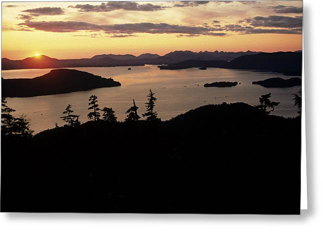 Southeast Alaska Greeting Cards - Sunset Sitka Sound Sitka Southeast Greeting Card by Jeff Schultz