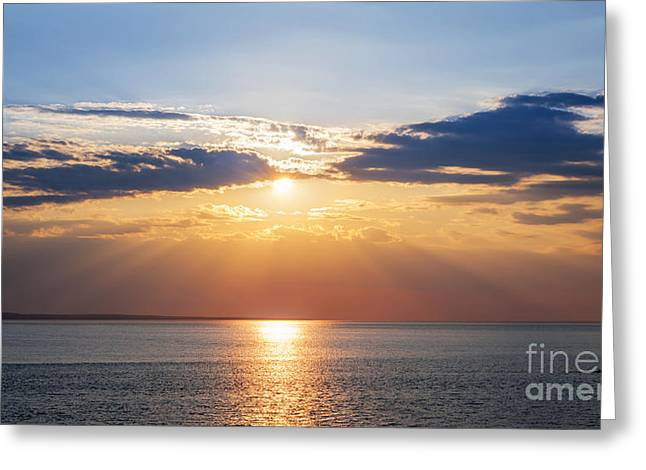 Princes Greeting Cards - Sunset sky over ocean Greeting Card by Elena Elisseeva