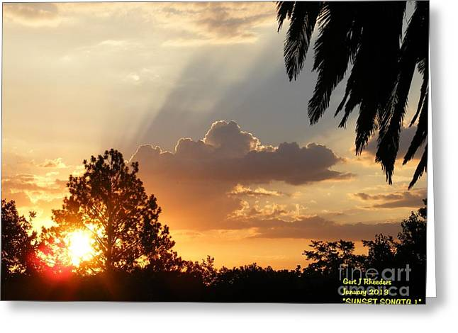 Commercial Photography Paintings Greeting Cards - Sunset Sonata 4 Greeting Card by Gert J Rheeders