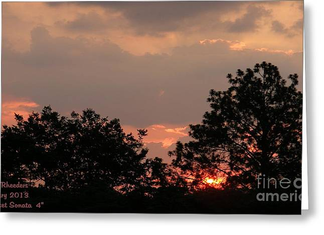 Commercial Photography Paintings Greeting Cards - SUNSET SONATA 4 H b Greeting Card by Gert J Rheeders