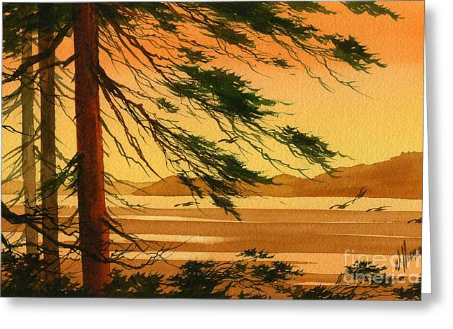 Sunset Greeting Cards Paintings Greeting Cards - Sunset Splendor Greeting Card by James Williamson