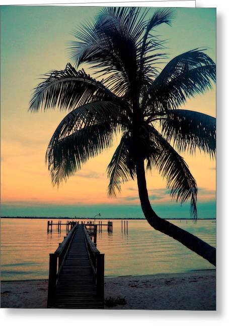St. Lucie River Greeting Cards - Sunset St Lucie River Greeting Card by Jim Rabenstine