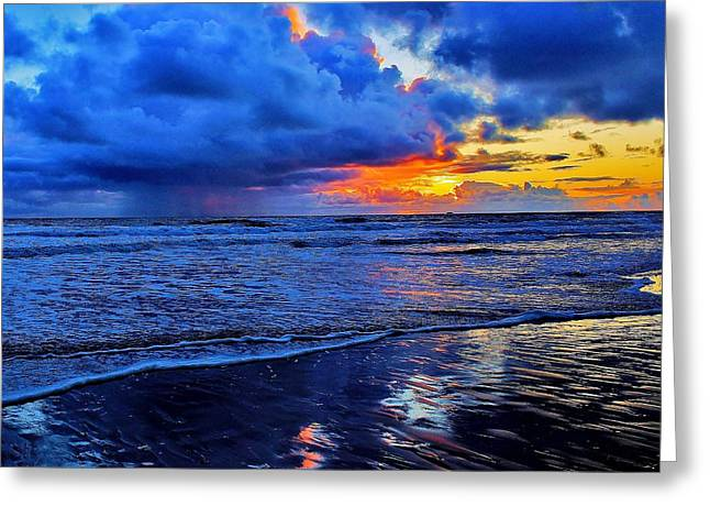 Pnw Greeting Cards - Sunset Storm Greeting Card by Benjamin Yeager