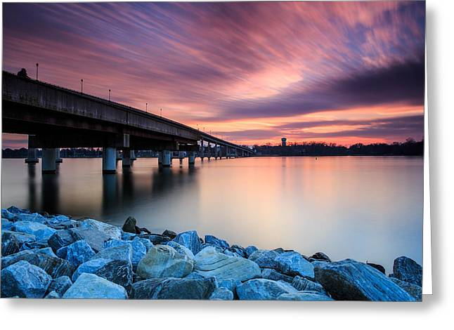 Annapolis Greeting Cards - Sunset Streaks Greeting Card by Jennifer Casey