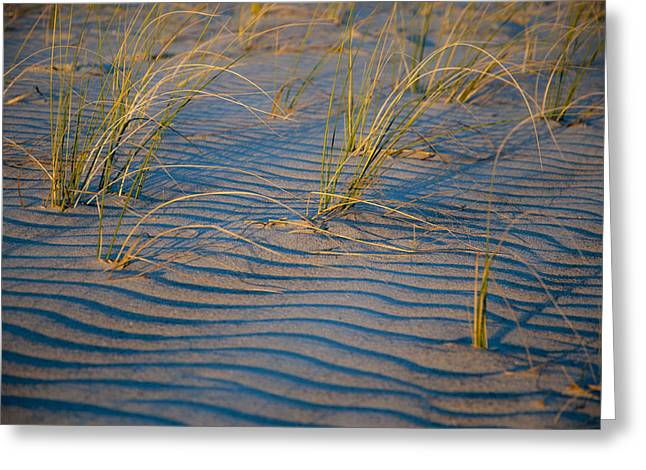 Ripples In The Sand Greeting Cards - Sunset Strip Greeting Card by Rob Hemphill