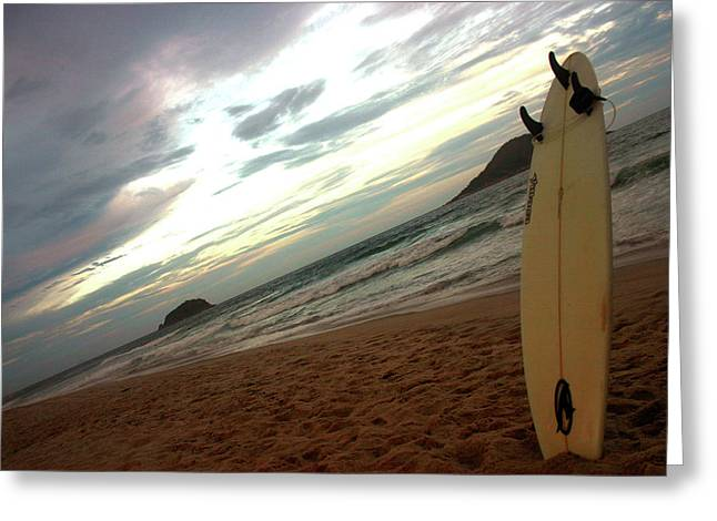 Frederico Borges Photographs Greeting Cards - Sunset surfing  Greeting Card by Frederico Borges