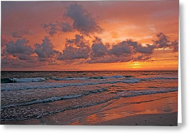 Ocean Art. Beach Decor Greeting Cards - Sunset - The Gift Greeting Card by HH Photography