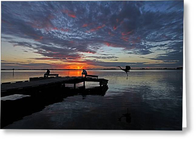 Sunset Prints Greeting Cards - Sunset - Three For Dinner Greeting Card by HH Photography of Florida