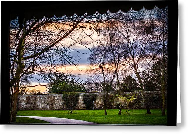 Sunset Prints Of Ireland Greeting Cards - Sunset through the window Greeting Card by John Hurley