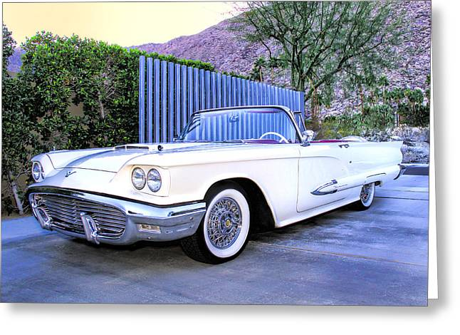 Sunset Thunderbird 2 Palm Springs Greeting Card by William Dey