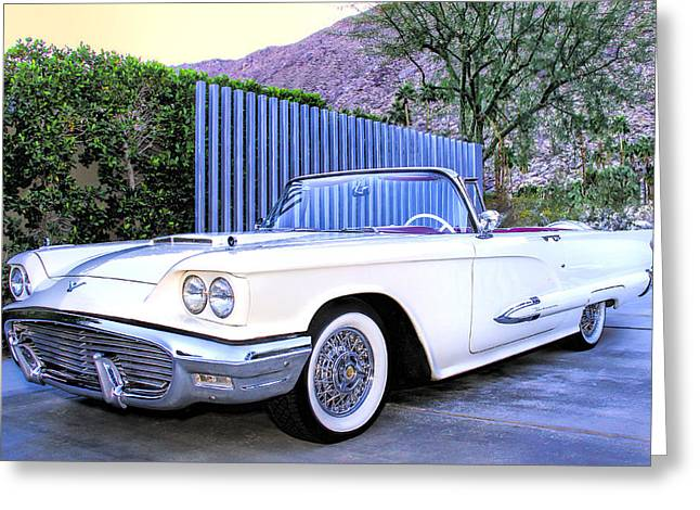 Sunset Thunderbird Palm Springs Greeting Card by William Dey