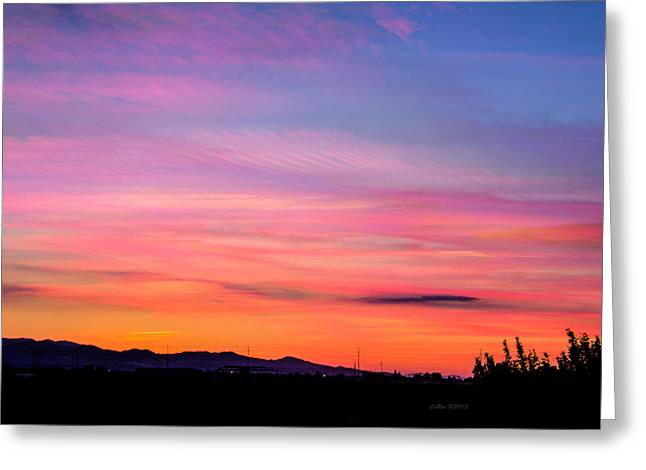 """sunset Photography"" Greeting Cards - Sunset Timestack 1 Greeting Card by La Rae  Roberts"