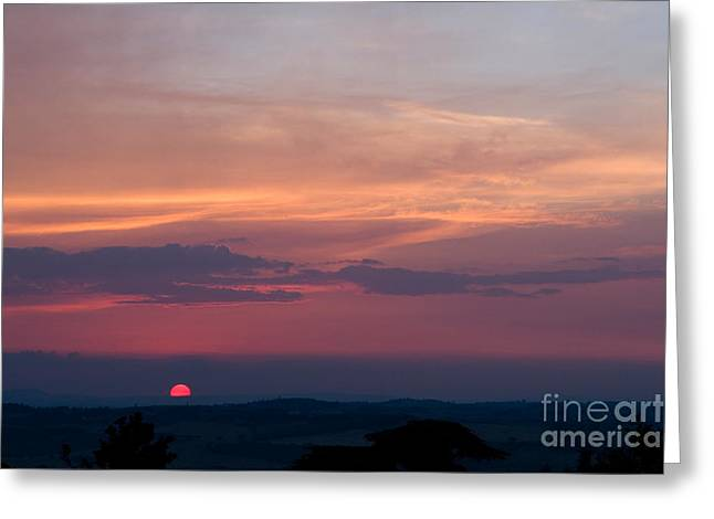 Italian Sunset Greeting Cards - Sunset, Tuscany, Italy Greeting Card by Tim Holt