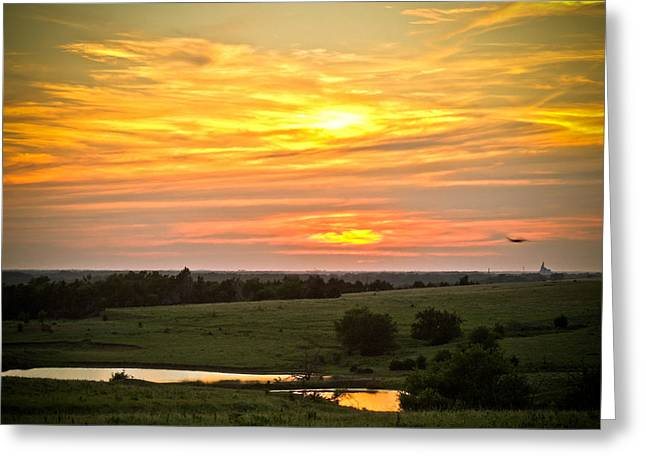 Best Sellers -  - Nature Center Pond Greeting Cards - Sunset VIII Greeting Card by Tracy Salava