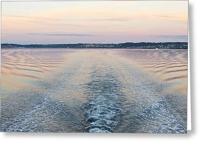 Sunset Wake Greeting Card by Sean Griffin