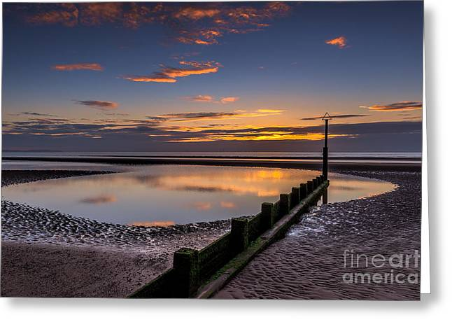 Nature Scene Digital Art Greeting Cards - Sunset Wales Greeting Card by Adrian Evans