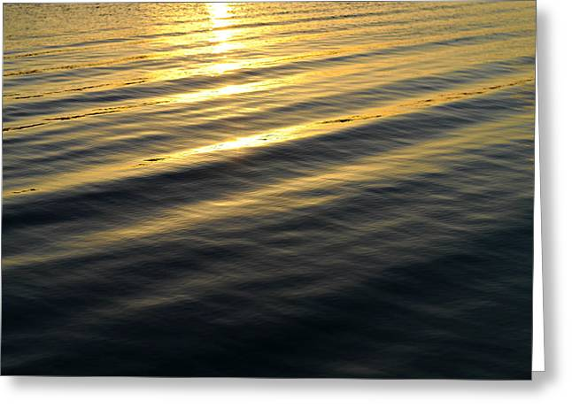Sunset Abstract Greeting Cards - Sunset Waves Greeting Card by Laura  Fasulo